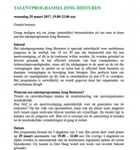 programma Talentprogramma Jong Besturen